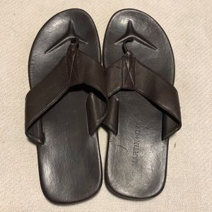 Martin + Osa Sandal Flip-flops Dark brown  Leather